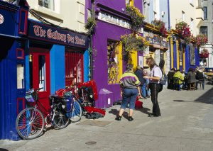Day Trips 5 The beautiful colours of the Shops in Artistic Galway, enticing tourists into the local shops